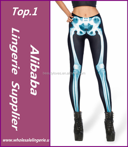 2015 New Women Lady Galaxy Space Rock Inspired X Ray Bone Print Leggings Fahion Ladies trousers Hot Sale Jeggings Girls