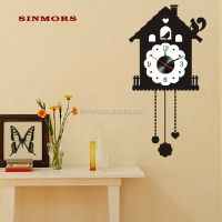 Factory Wholesale DIY Home Decorative Wall Clock Sticker, Removable Acrylic 3D Wall Sticker Clock