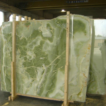 Factory professional natural stone big slab green marble for sale