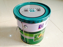 20L round Tin can with steel handle for paint, coating or other chemical products
