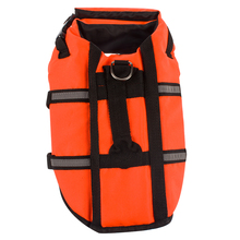orange dog life vest reflective pet life jacket