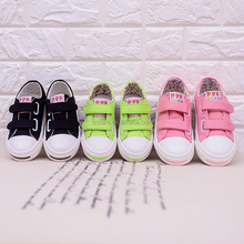 OEM ODM sweet kids cloth shoe Fashion latest girls canvas shoes