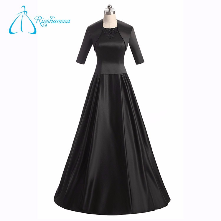 OEM Service Satin Sequined Beading Plus Size Vintage Mother Of The Bride Dresses