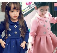 New design baby girls fancy flower dress alibaba supplier wholesale china girls dresses