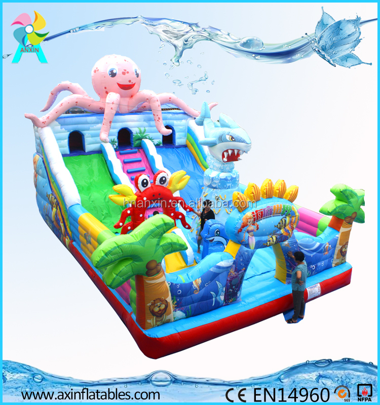 Guangzhou outdoor inflatable playground kids bouncy castle for rentals
