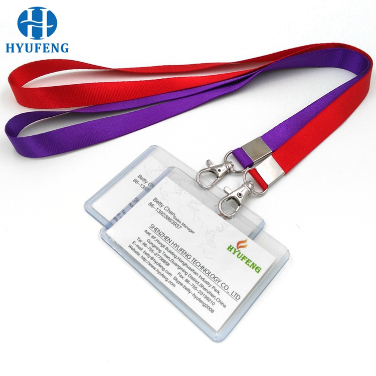 Custom Bulk Business Clear PVC Card Holder With Lanyard