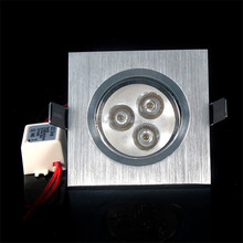 High Brightness 100lm/w Round Square Recessed LED Ceiling Light