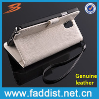 Real leather wallet case for samsung galaxy note 3 wtih stand