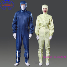 Cleanroom White uniform Worker Wear ESD Antistatic Garment Working Smocks