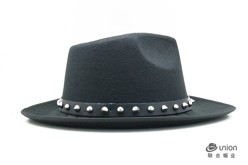 Men Women Fashion Wool Felt Fedora Hat Western Cowboy Cowgirl Cap Jazz hat Sun Hat Toca Sombrero Cap with leather band