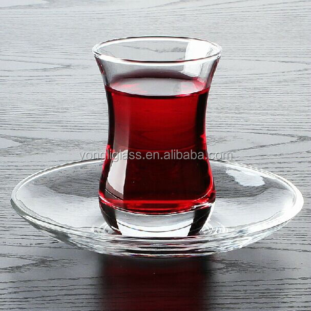 Traditional turkish tea glass cup,tea cup sets, tea glass with saucer