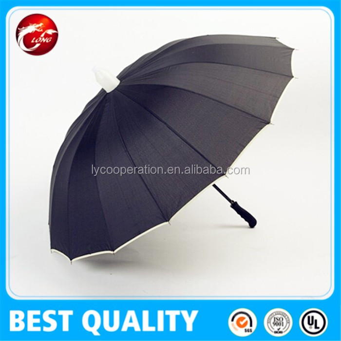 Waterproof No drip straight umbrella with pvc cover