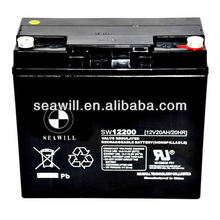 Electric vehicle sealed lead acid battery AGM battery 12v 20Ah