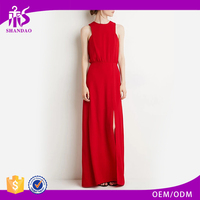 2016 China OEM/ODM Supplier Summer Custom Ruffle 100%Polyester Sleeveless Pictures Semi Formal Ladies Dresses