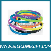 Cheap Sell Customized Promotional Thin Silicone Bracelets/Silicone Rubber Bands