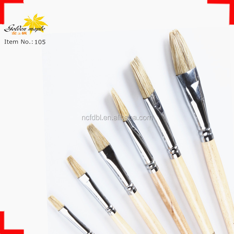 Boar Bristle Hair Drawing Coloring and Paints Oil Paintings Brushes for Beginners <strong>105</strong>