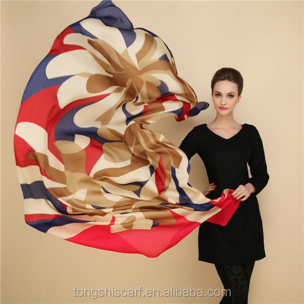 Factory direct sale 100 silk scarf shawls supplier