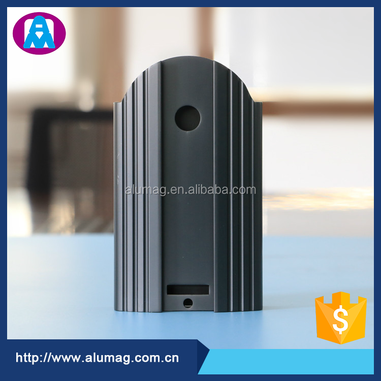 Aluminum Extrusion+CNC Housing for Machine Parts with Black Anodized Surface