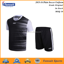 Dri fit football shirt 100% polyester blank soccer jersey wholesale with cheap price low MOQ