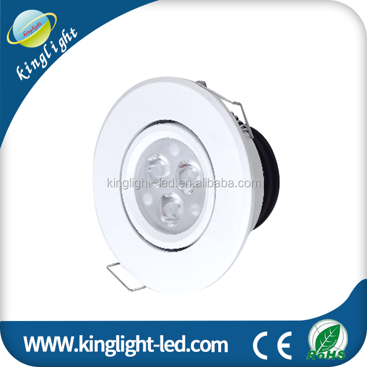 3W RGB LED Ceiling Light Dimmable Wireless Remote Led Recessed Light
