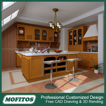 European style MDF coated PVC kitchen cabinet doors