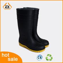 black pvc rain boots,gumboots,safety shoes with steel toe for industry and agriculture