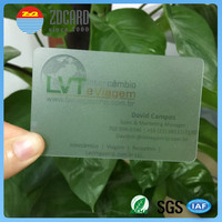 High quality offset printing plastic PVC transparent clear business cards