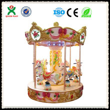 merry go around/Outdoor Amusement Park Ride Carousel For Kids/carousel rides roundabouts for child QX-129B