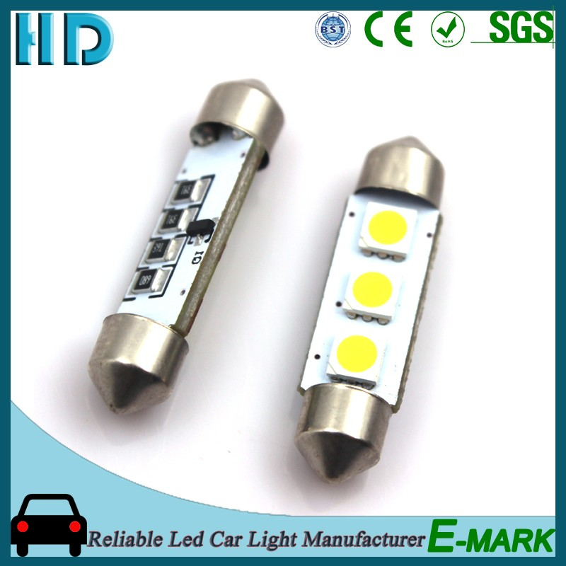 Top selling products 2017 Festoon 31 36 39 41mm led bulb for car dome number plate light