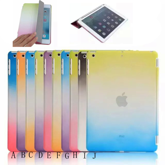 Case for ipad Mini 1/2/3, for iPad Mini 1/2/3 Rainbow Pattern Smart Cover with wake up/sleeping function