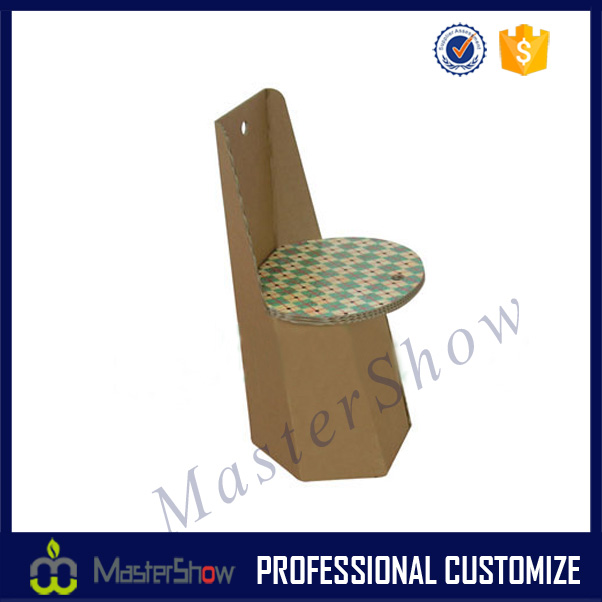 Special design cardboard furniture for children/cardboard display chair/cardboard folding chair