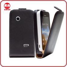 RF Manufacturer Ultra Slim Vertical Magnetic Premium Leather Flip Case for Sony Xperia Tipo St21i
