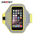Haissky fashion appearance lycra+reflective fabric mobile armband/wist bag for running and fitness