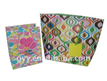 Colorful paper packing bag