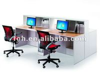 desktop partition/ office cubicle design/ office partitioned desk (FOHJZ-04)