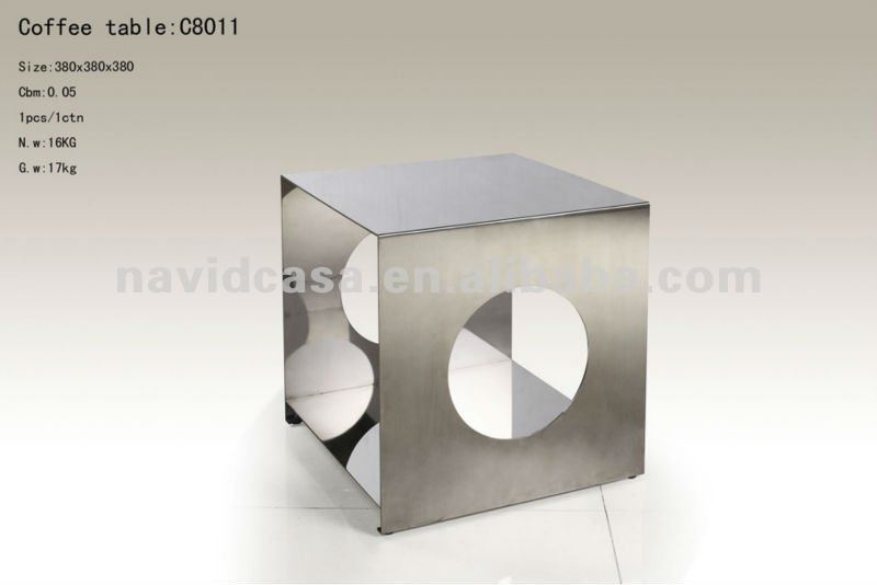 C8011 stainless steel telescoping coffee tables