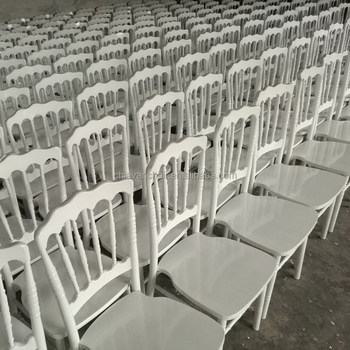 White Color Solid Wooden Hotel Banquet Napoleon Party Chairs