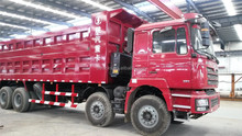 best price high quality 50ton 12 wheeler shacman dump tipper truck