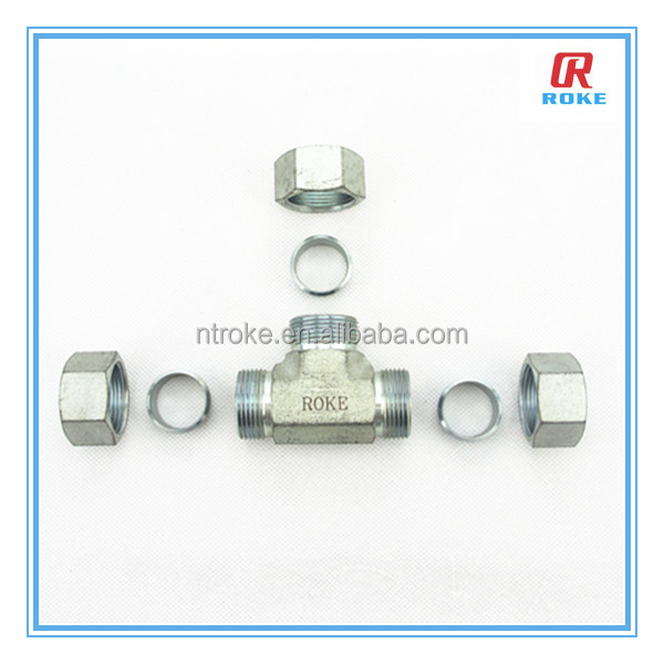 Nantong Roke Stainless steel equal elbow ferrule pipe tee connector