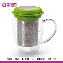 Promotional Christmas Gift Wholesale Glass Tea Cup With Tea Filter