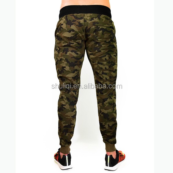 Camo pattern mens jogger pants custom, wholesale ruffle pants sweatpants, slim fit and comfortable