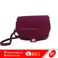 Rose Red Women Fashion Suede Leather Shoulder Bag