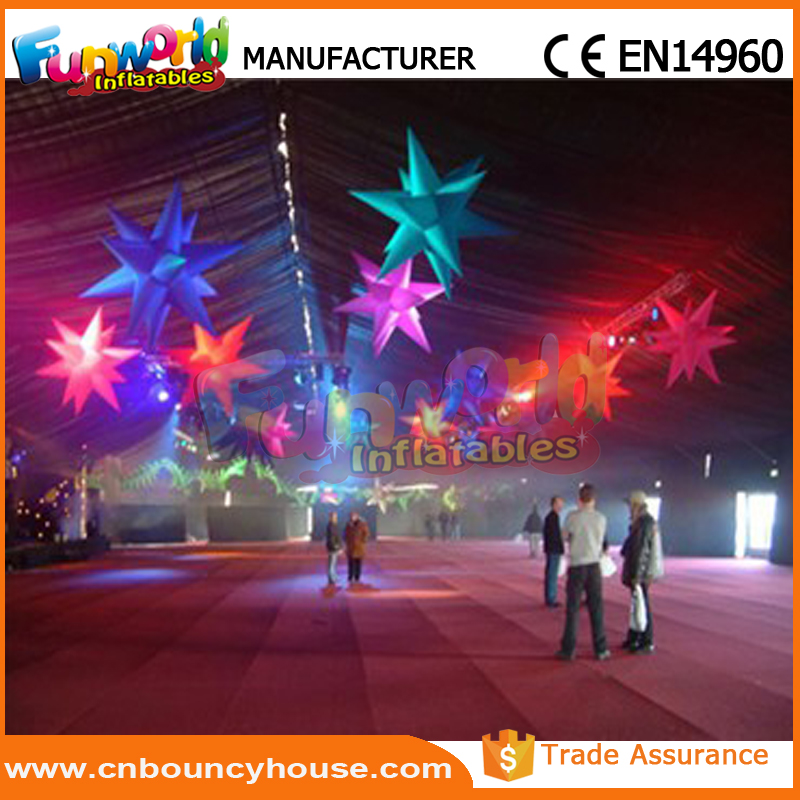 Cheap Inflatable led stage star inflatable wedding star for sale