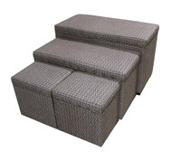 Folding Storage Bin Bench, Seat Ottoman Foot Rest