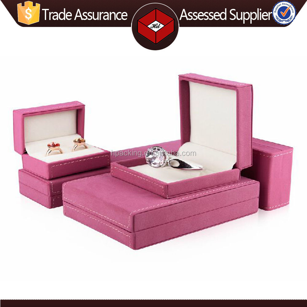 High Quality Box for Jewelry Manufacturers China Custom Suede Leather Jewelry Box