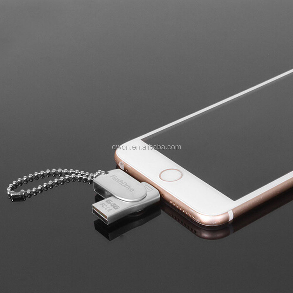 8gb 16gb 32gb 64gb 128gb micro mobile phone usb flash drive,swivel mobile phone usb stick OTG USB Flash Drive For IPhone