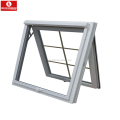 UPVC profile safety tempered glass awning window top hung window