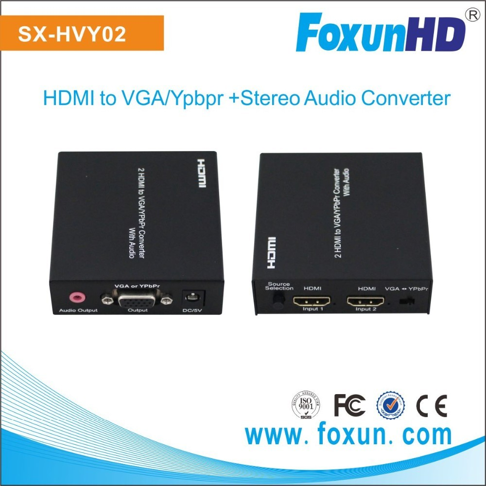 HDMI to Ypbpr format converter box mini HD video HDMI adapter VGA converter with audio LPCM channel