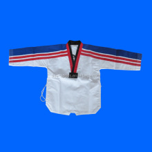Martial Arts Taekwondo Uniform with Black V, White