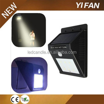 Aluminum Solar Led Motion Sensor Light